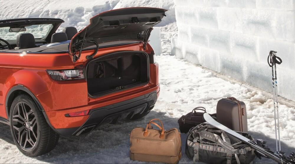 251 LITER: Bagasjerommet er på størrelse med det du finner i minibilen Volkswagen Up.