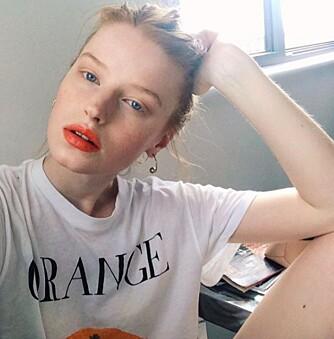 TOPPMODELL: Den norske modellen Helene Hammer har de to siste årene tatt motebransjen med storm, og er kjent for sitt karakteristiske røde hår og unike stil.