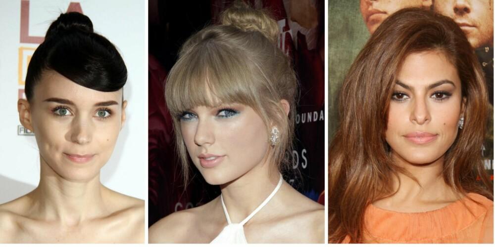 KLAR, MYK ELLER VARM? Kan du kjenne igjen hutypen din? Rooney Mara er klar, Taylor Swift er myk og Eva Mendes er varm. Hvis du har fregner og rødt hår, så er det sannsynligvis også varm.
