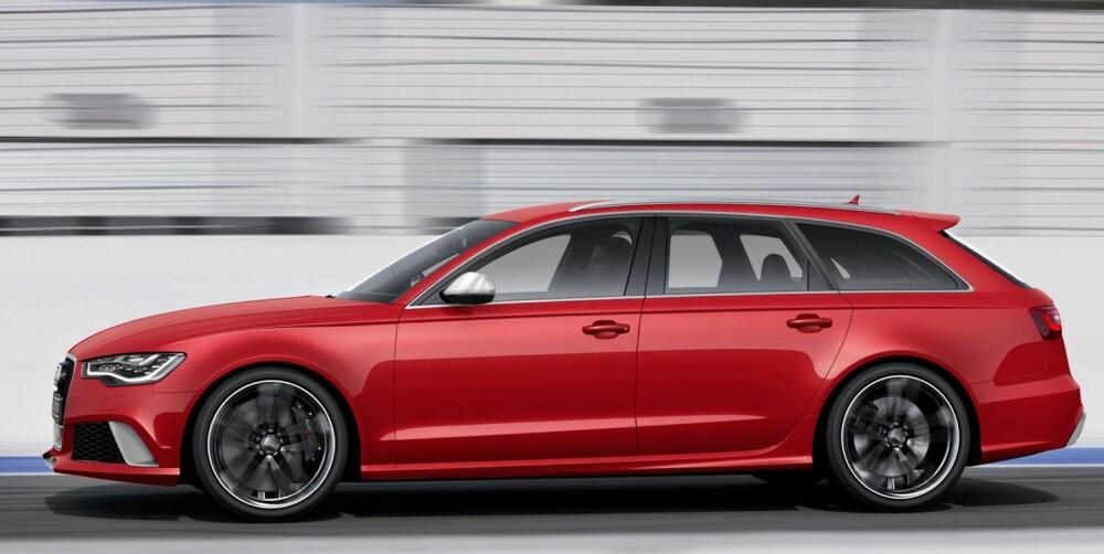 KRAFTBOMBE: Audi RS6 Avant har 560 hk og 700 Nm dreiemoment. FOTO: Audi