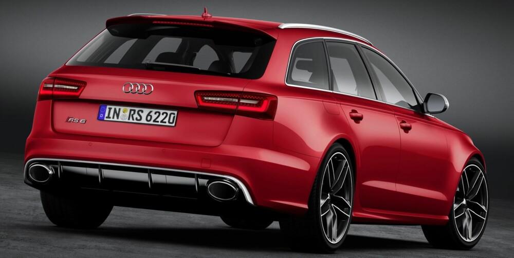 RESSURSSTERK: V8-motoren med to turboer gir toppfart på inntil 305 km/t. FOTO: Audi
