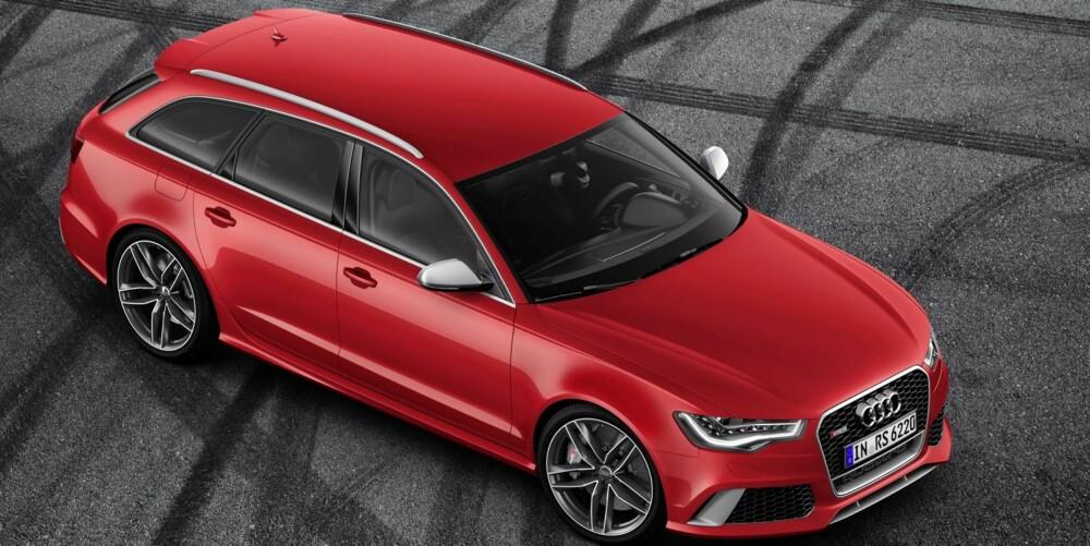 TRADISJON: De raskeste Audiene har speil i sølvfarge. På den nye RS6 Avant er de matte. FOTO: Audi