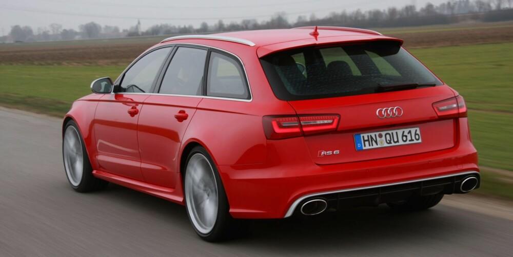 KRAFTKAR: Audi RS6 Avant med 560 hk. FOTO: Audi