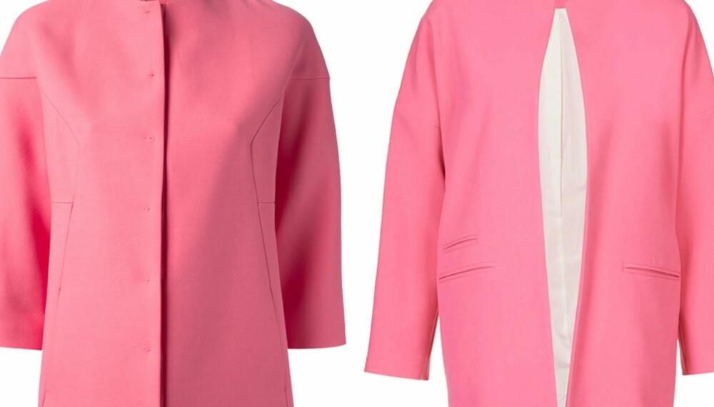 228350a7 ROSA JAKKE: Den ene jakken koster 29 ganger så mye som den andre. Ser