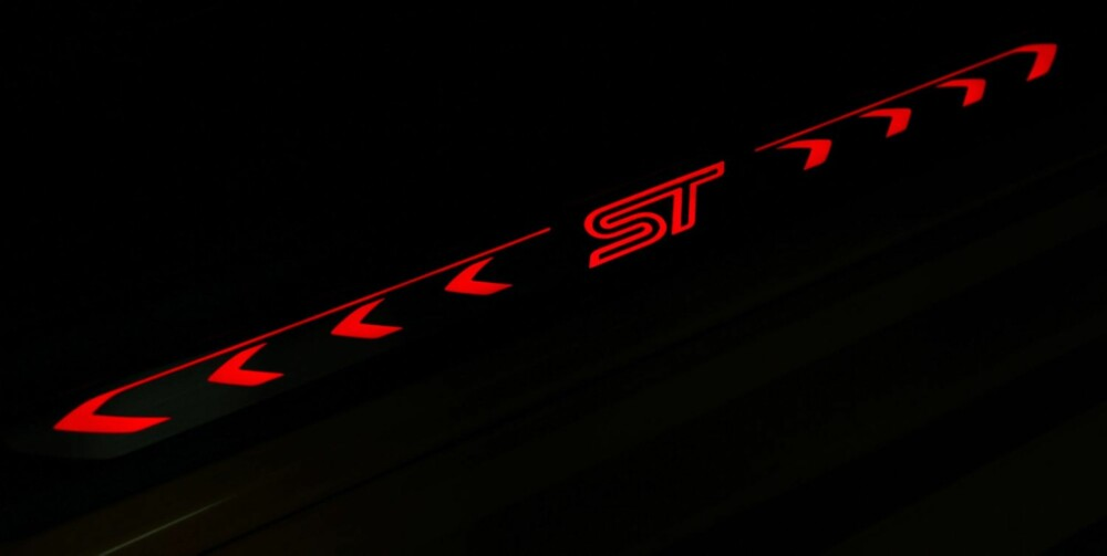 LYSER: ST-emblemet skinner opp i dørkarmen. FOTO: Petter Handeland