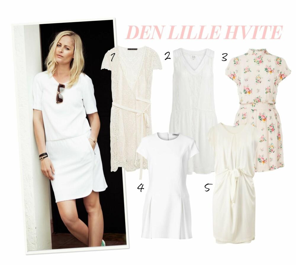 DEN LILLE HVITE: Bytt ut den svarte kjolen med en hvit variant i sommer!