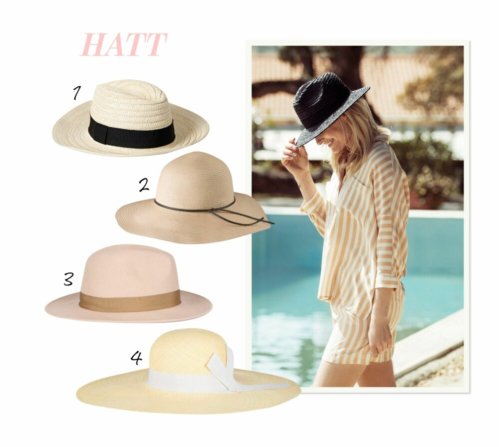 HATT: Beskytt hår og øyne med en hatt på hodet i den sterke solen.