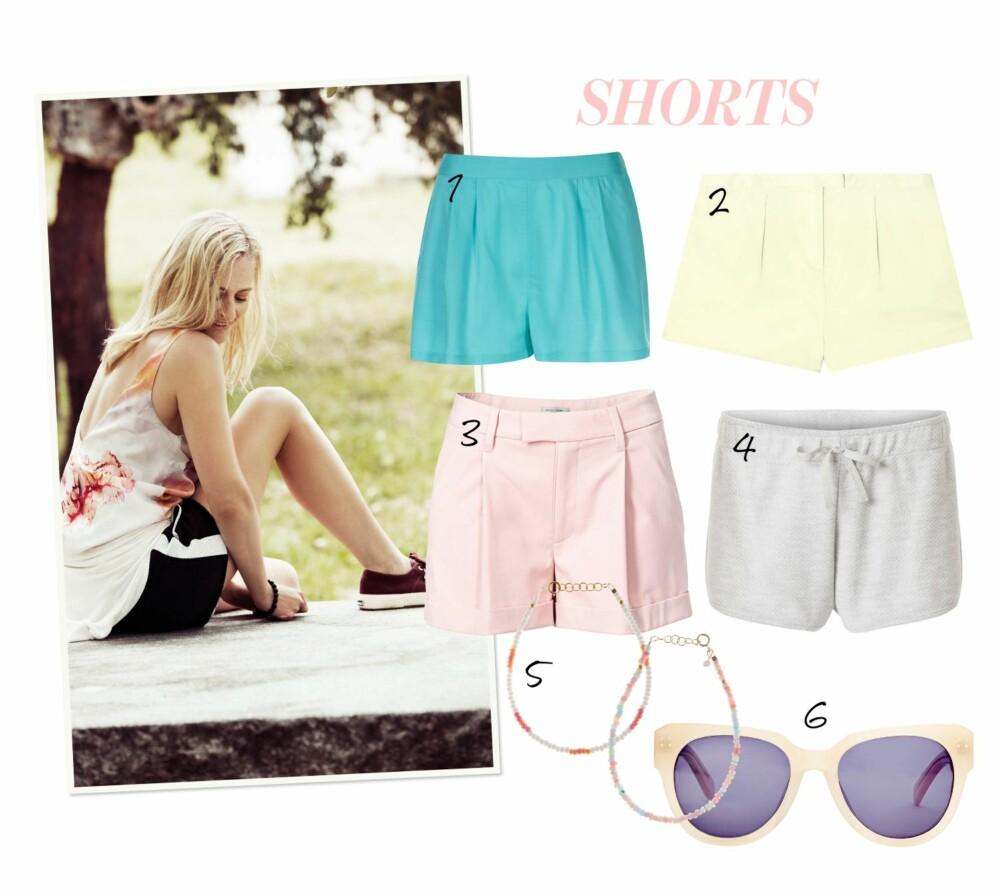 SHORTSEN: En kort shorts i lyse farger passer perfekt til sene sommerkvelder.