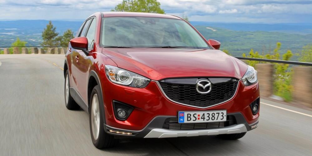 SUV: Mazda CX-5 er Norges nest mest solgte bil. De flest velger diesel, og det gjør vi også. FOTO: Terje Bjørnsen