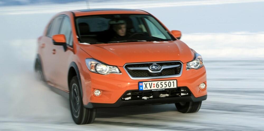 HELST DIESEL: Skal du ga Subaru XV med automatgir, må du velge bensin. Dieselversjonen fås ikke med automat. FOTO: Egil Nordlien, HM Foto