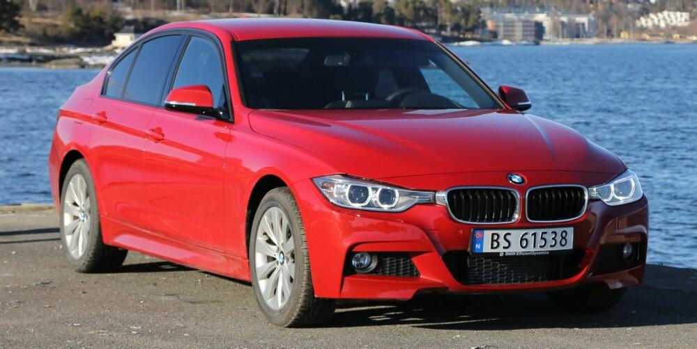 NEI TIL TRAKTORLYD: BMWs dieselmotor bruker mindre, men støyer langt mer enn bensinmotoren, som også er raskere. FOTO: Terje Bjørnsen