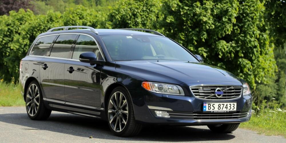 LETT FACELIFT: Volvo V70 har vært gjennom en oppfrisking, men gunnformen er den samme som i 2007.