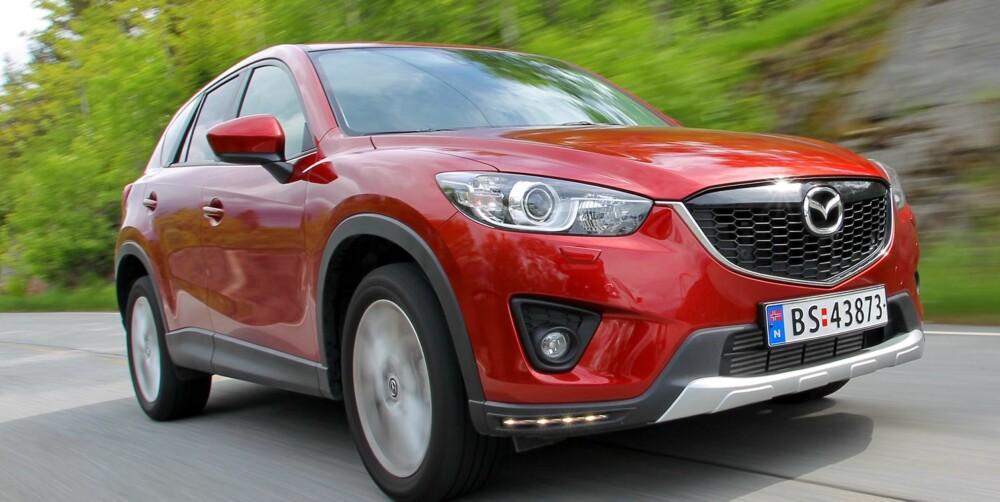 DIESEL-DRAG: Moderne dieselmotor og automatkasse passer fint i Mazda CX-5. FOTO: Egil Nordlien, HM Foto