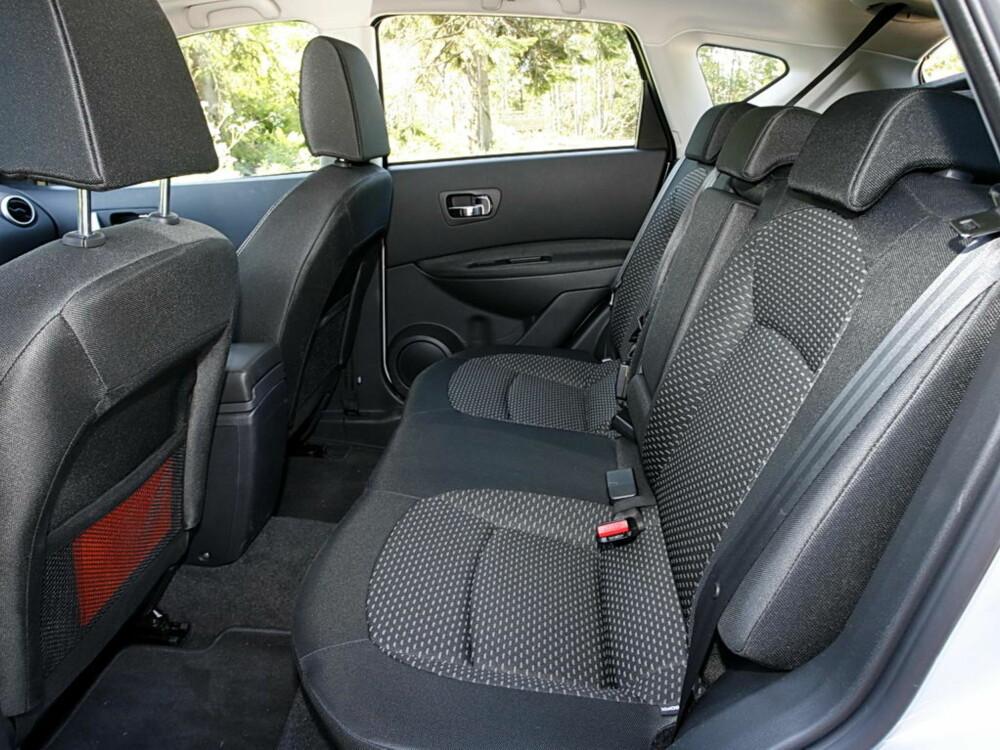 GREIT NOK: Målt opp mot konkurrenter i kompaktklassen kan Nissan Qashqai skilte med bra plassforhold i baksete og bagasjerom.