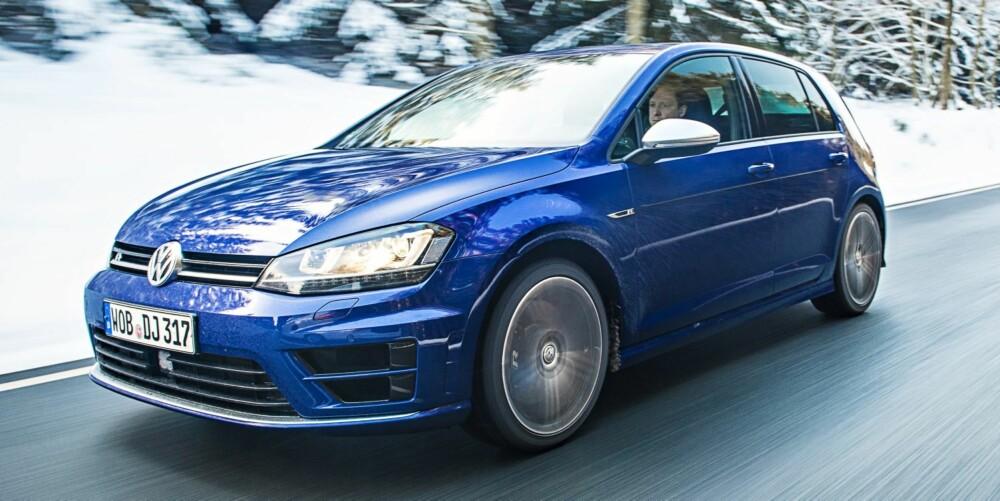 GOLF: I Norge koster VW Golf R fra 644 400 kroner
