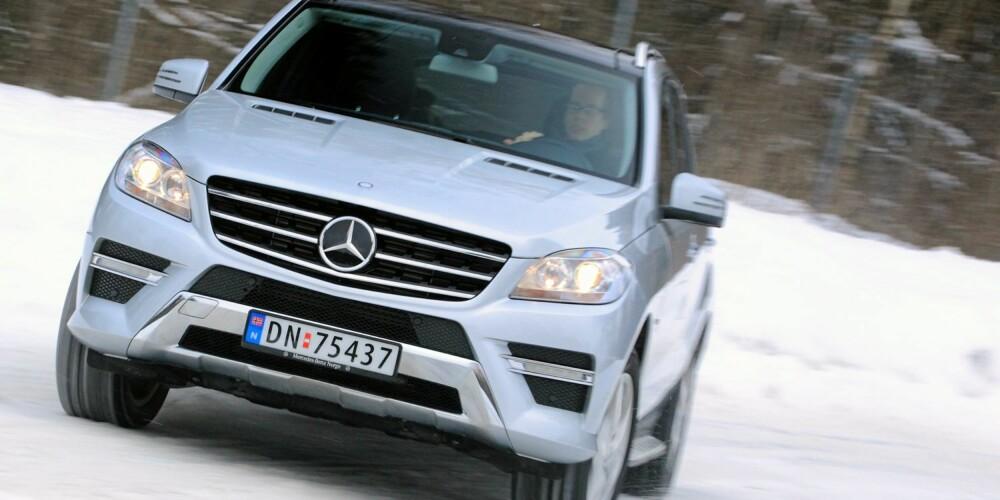SLIPPER: Når det blir veldig glatt slipper det ganske brått, men dette gjelder alle biler som er såpass tunge. FOTO: Egil Nordlien, HM Foto