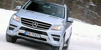 LUKSUS-SUV: Mercedes-Benz ML er blant de firehjulsdrevne bilene vi har testet i år - atpåtil i to versjoner.