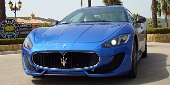 SLÅENDE VAKKER: Vi har prøvekjørt Maserati GranTurismo Sport. Alle foto: Maserati