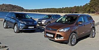 GODE NYHETER: Tre gode og populære SUV-er som har sine styrker på ulike områder. FOTO: Petter Handeland