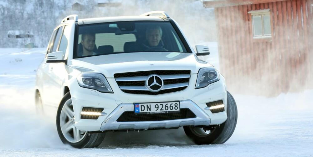 BEST KOMFORT: Mercedes GLK er uten tvil den mest komfortable av de tre. I tillegg er dieselmotoren både sterk og veldig gjerrig på drivstoffet. FOTO: Petter Handeland