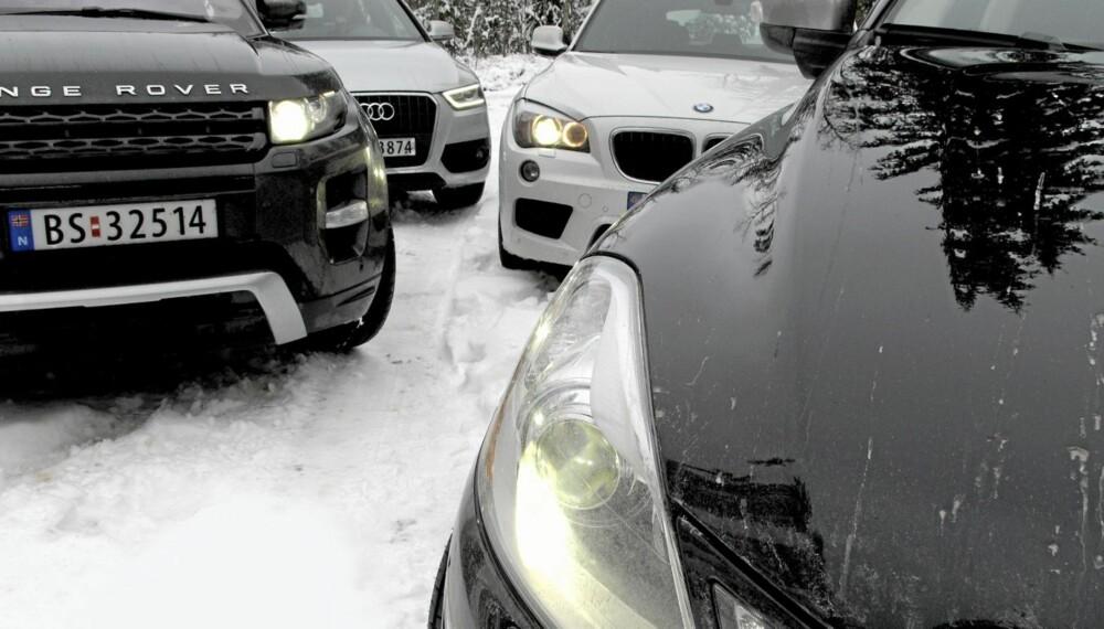 SUV STORTEST: Audi Q3 2,0 TDI Quattro, BMW X1 20d xDrive, Range Rover Evoque SD4 og Volvo XC60 D3 AWD