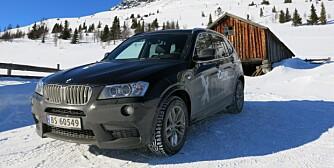 NYDELIG SEKSER: BMW X3 med treliters diesel.