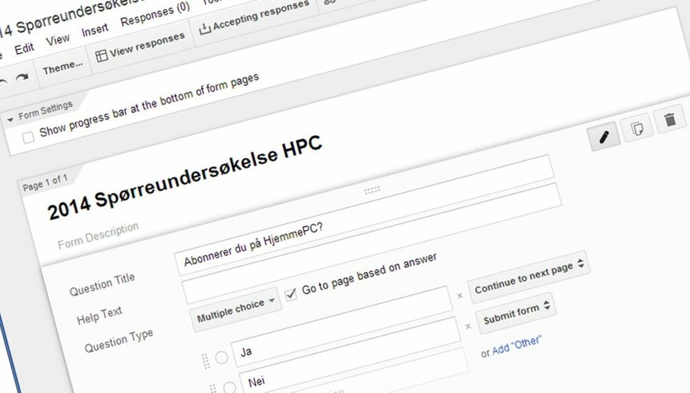 FANG DATA: Med Google Docs kan du gratis og enkelt samle inn små og store datamengder på en strukturert måte.