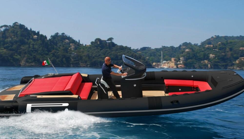 RIB: Italienske Tecnorib med sine Pirelli P Zero Speed Boats er en ny stjerne på RIB-himmelen i nordisk sammenheng. FOTO: Produsent