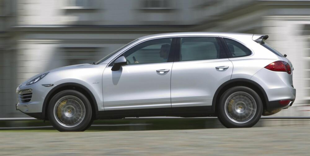 PRISSPENN: Prisene på bruktmarkedet 2010-modeller (per august 2010) spenner fra cirka 700 000 for diesel (bildet) til 1 600 000 for Cayenne Turbo.