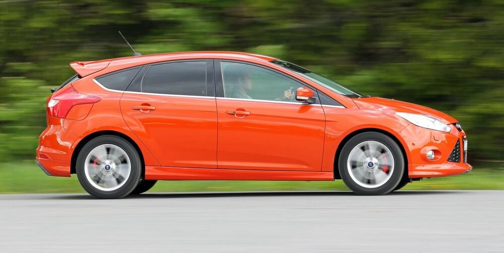 FRISTER: En helt ny Ford Focus med 1,0-liters bensinturbo er fristende, på tross av merkostnadene.