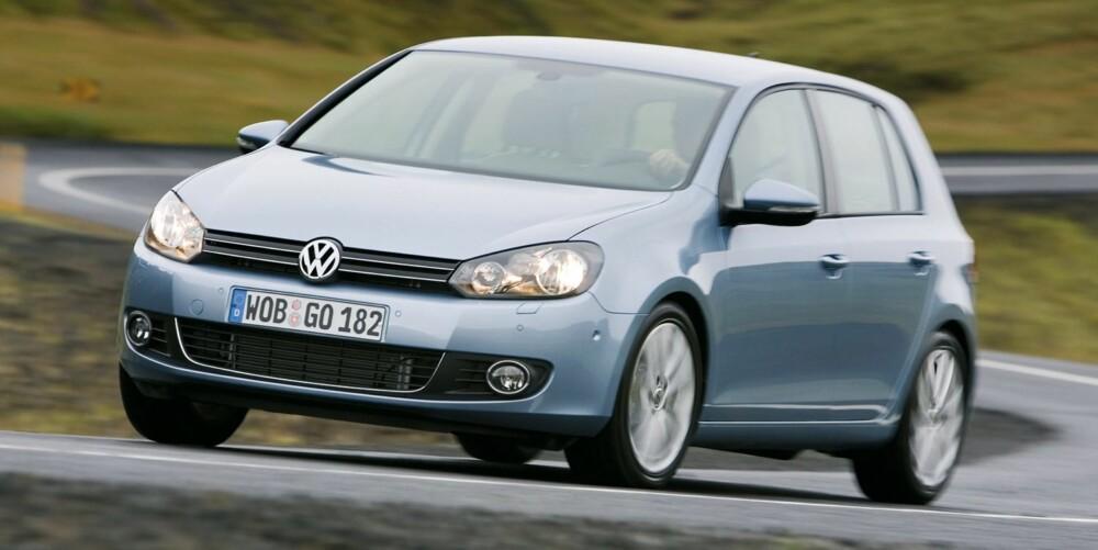 SUPERSALG: VW Golf er en evig bestselger. På Finns lister over sidevisninger per annonse havner den imidlertid nede på 84. plass. FOTO: Arkiv