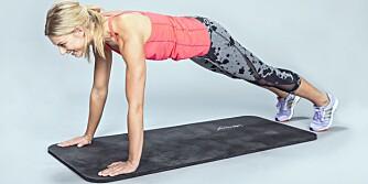 PUSH UPS: Du trener: Bryst, bakside armer, fremside skulder og mage.