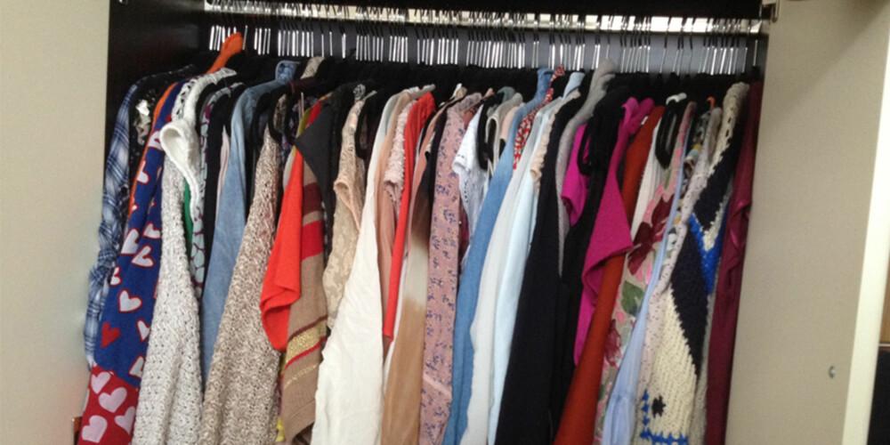 REDIGER: De aller fleste av oss har for mange klær i skapet. Legg vekk det du er usikker på - har du ikke savnet dem på tre måneder, kan du gi det bort!