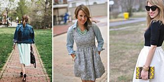 LÆRTE SEG Å BRUKE DET HUN HADDE: Caitilin Moran er moteblogger. I fjor tok hun ett års handlepause - og fant massevis av skatter i klesskapet hjemme.