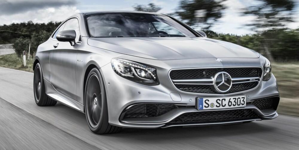 FETE SAKER: Vi har prøvekjørt AMG-versjonen med en 5,5-liters biturbo V8-er som yter 585 hk og 900 Nm.