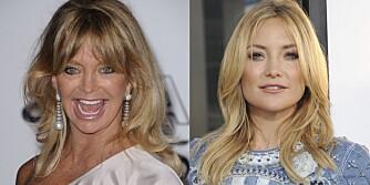 KJENT LIKHET: At Goldie Hawn og datteren Kate Hudson er ekstremt like er en kjent sak, men vil huden deres også eldes på samme måte?