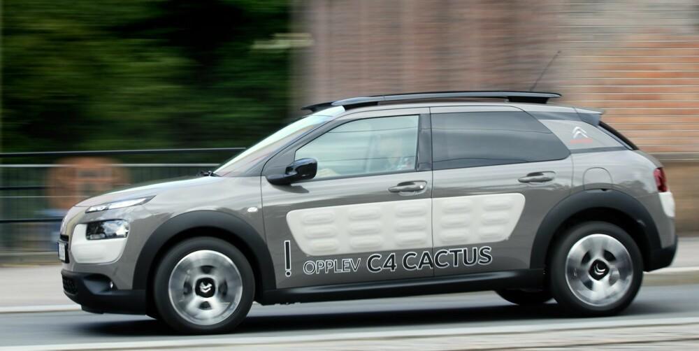 RIMELIG: Den rimeligste utgaven av Citroën C4 Cactus koster fra 183.000 kroner. Testbilen er imidlertid den absolutt dyreste Cactus du i dag kan få kjøpt, med en pris på over 260.000 kroner. FOTO: Petter Handeland