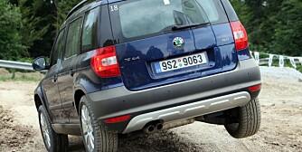 TØFFING: Ingen terrengbil, men Skoda Yeti tåler røff bruk. FOTO: Skoda