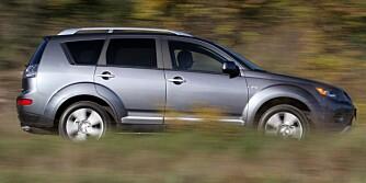 ALLSIDIG: Mitsubishi Outlander er stor nok for en familie med høyt aktivitetsnivå. FOTO: HM Arkiv
