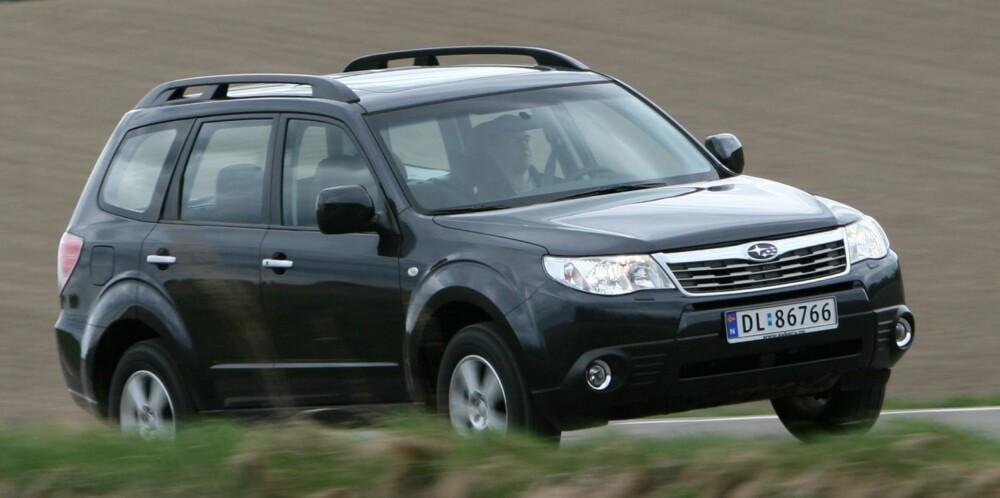 FIN PRIS: Subaru Forester hører med til de rimeligere bruktbilkjøpene i sin klasse. FOTO: HM Arkiv