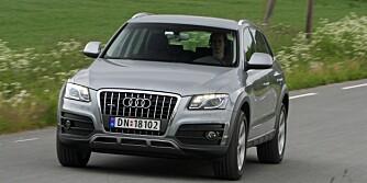 TYPISK AUDI: Den gedigne kvalitetsfølelsen er blant de beste egenskapene til Audi Q5. FOTO: Egil Nordlien, HM Foto