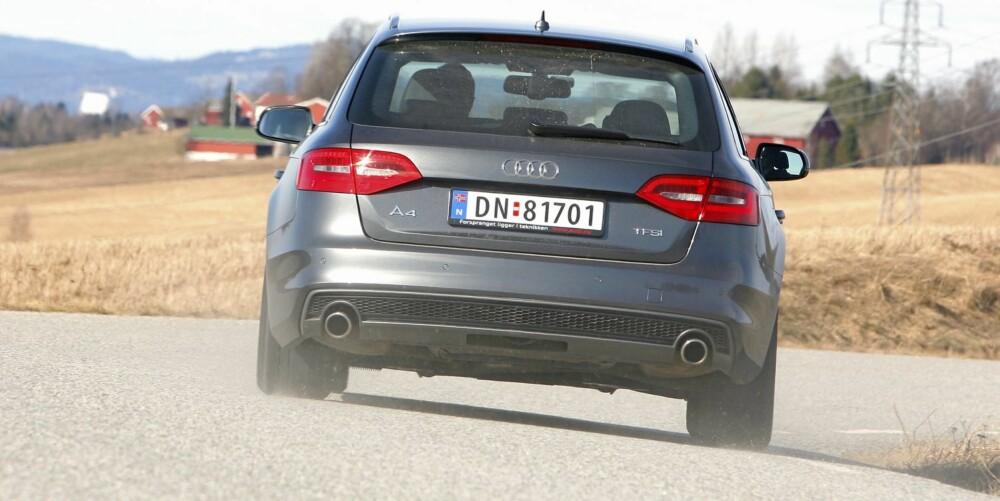 GODT DRIV: Med sportsunderstell og kvikk motor oppleves A4 Avant som en sportslig bil på veien. Fjæringskomforten kunne vært bedre.