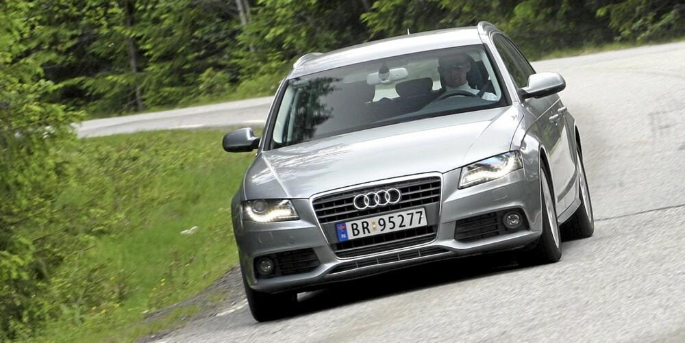 GODT BYGGVERK: Alt ved Audi A4 utstråler høy kvalitet i byggeprosessen. Bilen kjennes som smidd ut av ett stykke.