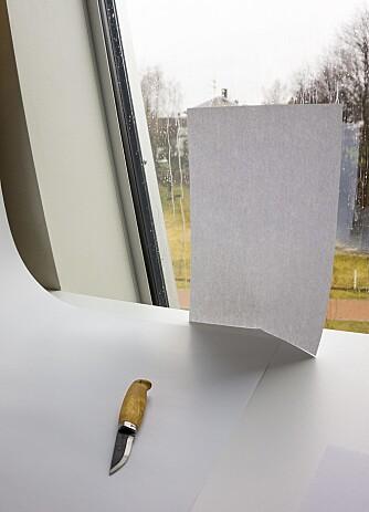 BLØTERE LYS: Er det sterkt solskinn kan et papir eller et tynt tøystykke bidra til å gjøre lyset bløtere.
