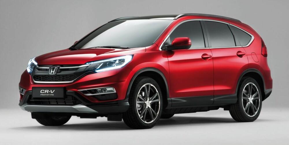 FACELIFT: Honda CR-V. Kommer nå også med 160-hesters diesel.