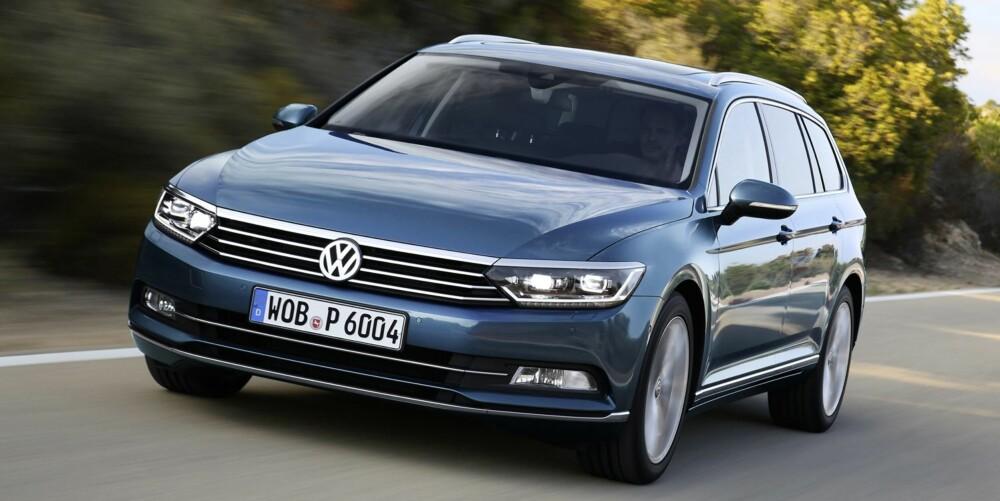 PRIS: VW Passat stasjonsvogn med 1,6-liters TDI-diesel på 120 hk vil koste fra 355 500 kroner med utstyrsnivå Comfortline. FOTO: VW