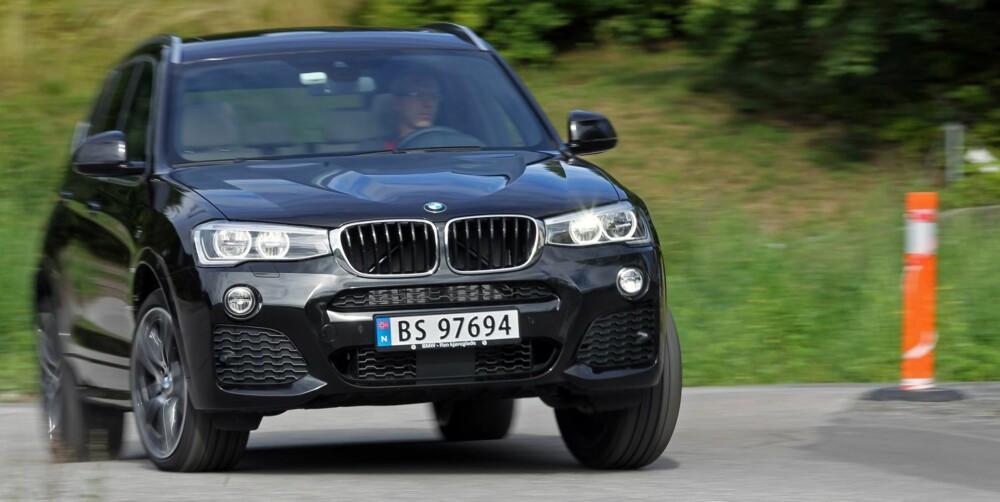 BMW X3: Sportslig status-SUV. FOTO: Petter Handeland