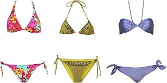 FRA VENSTRE: Calvin Klein (kr 708), H&M (kr 129/99), Cheap Monday (kr 299).
