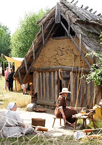 MUSEUMSDORF DÜPPEL: Friluftmuseet Düppel viser hvordan mennesker hadde det i gamle dager.