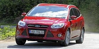 STERK NOK: 1,6-litersdieselen i versjonen med 115 hk gir Ford Focus-sjøføren følelsen av et lite kraftoverskudd. FOTO: Terje Bjørnsen